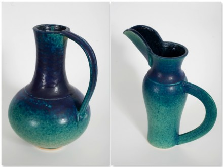 Beak Jug, Belly Jug, stoneware rawglazed singlefired Usch Spettigue 2007