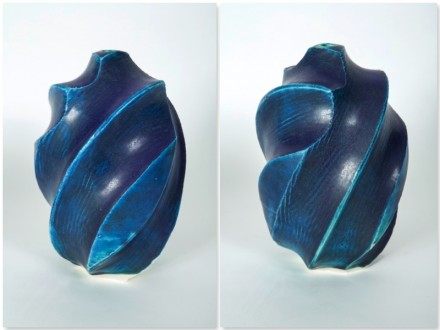 Carved Pot, surform tool.rawglazed, singlefired, Usch Spettigue 2012