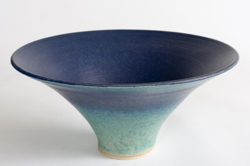 Large Bowl, stoneware rawglazed singlefired Usch Spettigue 2006