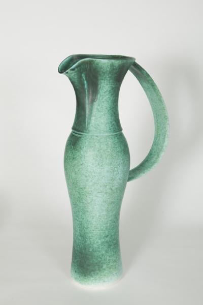 Large Green Jug, porcelain, rawglazed, singlefired, Usch Spettigue, 2011