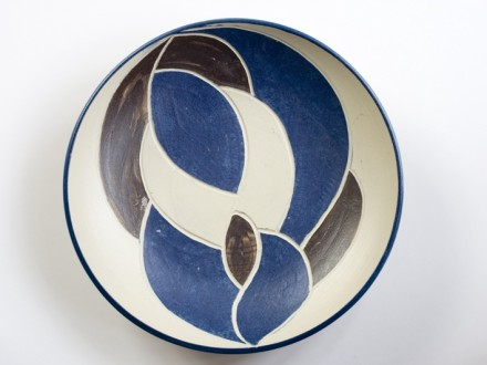 Plate, stoneware rawglazed singlefired Usch Spettigue 2006