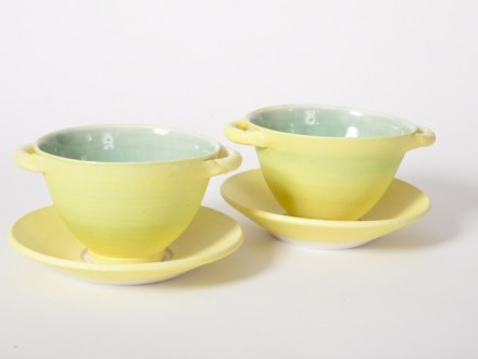 Soup Bowls, porcelain, rawglazed, singlefired, Usch Spettigue 2009