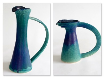Straight Jug and Beak Jug, stoneware rawglazed singlefired Usch Spettigue 2006