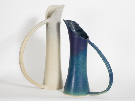 wide handles, stoneware rawglazed singlefired Usch Spettigue 2007